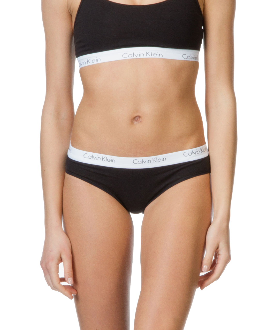 96400c07ed Calvin Klein černé kalhotky Bikini s bílou gumou - Spodní Prádlo ...