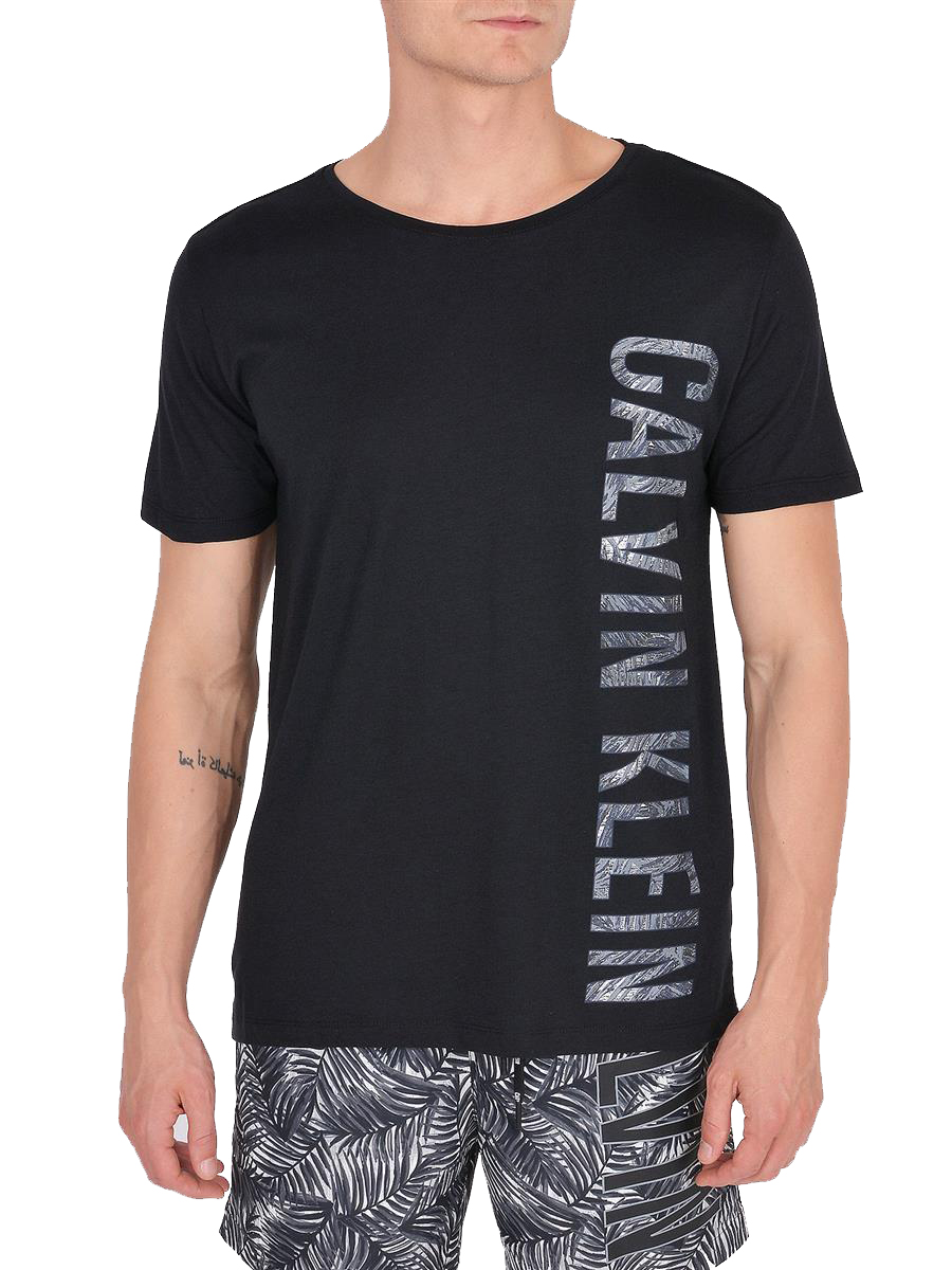 c05b3ed3a Calvin Klein černé pánské tričko Relaxed Crew Tee Black - Spodní ...