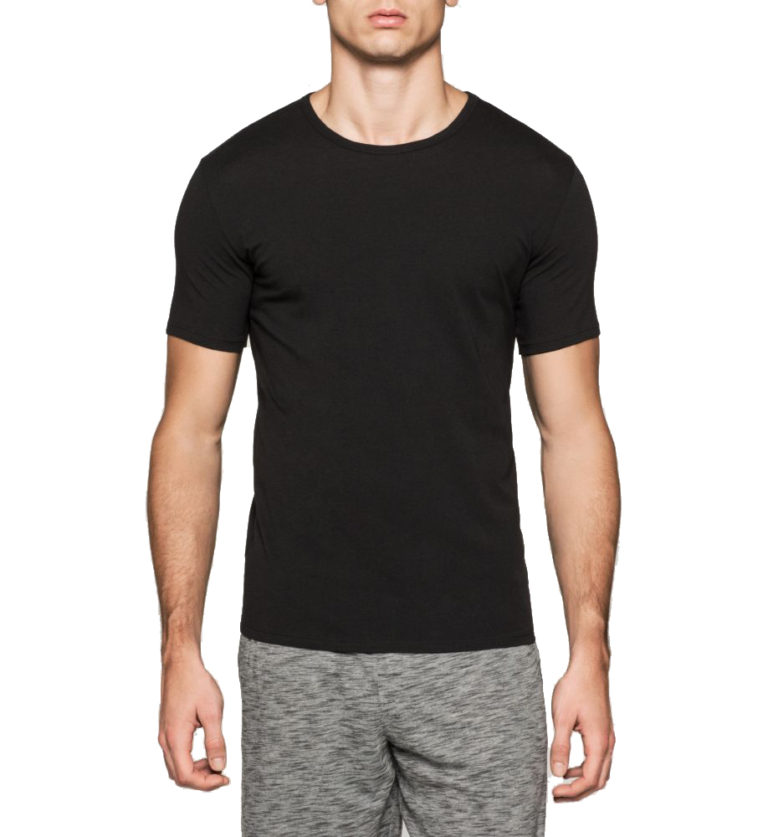Praktický dvojpack černých pánských triček od značky Calvin Klein