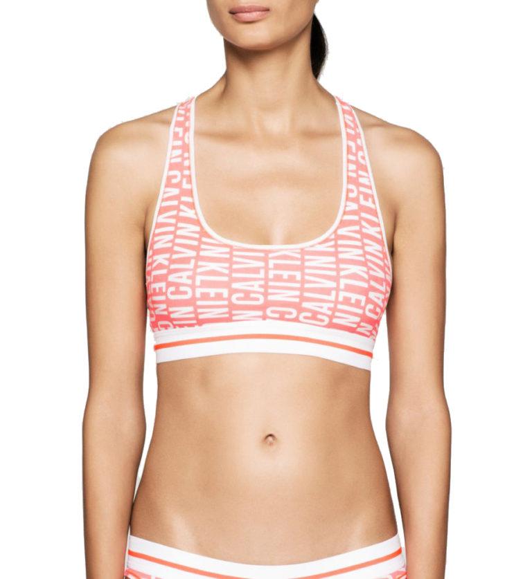 Originální neonová dámská podprsenka Calvin Klein ve sportovním střihu